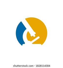 Microscope logo sign symbol design vector template