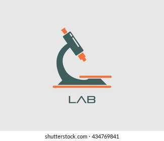 Microscope Logo Vector