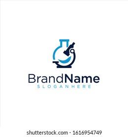 Microscope Medical laboratory Logo . Science Labs Logo Design . Bio organic lab logo . Lab Logo .