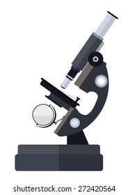 Microscope for medical laboratory research. Eps10 vector illustration. Isolated on white background