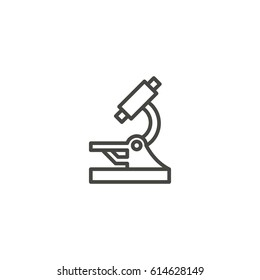 microscope outline icon vector