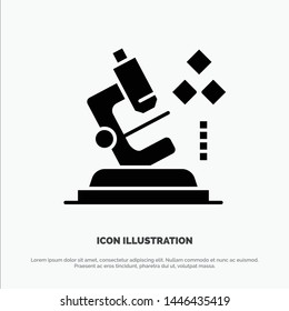 Microscope, Science, Lab, Medical solid Glyph Icon vector