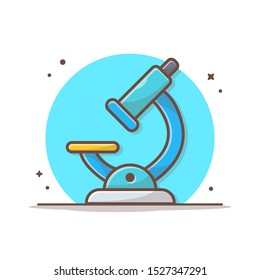 Microscope Vector Icon Illustration. Science Icon Concept White Isolated. Flat Cartoon Style Suitable for Web Landing Page, Banner, Sticker, Background