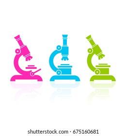 Microscope vectors icon set illustration isolated on white background