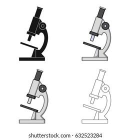 Microscope.Medicine single icon in cartoon style vector symbol stock illustration web.