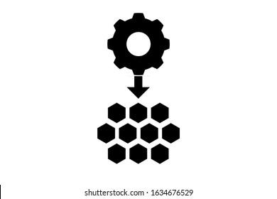 Microservice architecture vector icon, micro chips symbol.