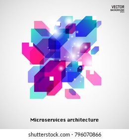 Microservices architecture vector design