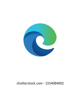 Microsoft Edge Chromium Browser Brand New Stock Vector Royalty Free 1554084002