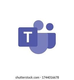 Microsoft Teams logo, remote working application symbol. Microsoft Teams vector sign, modern and simple logo illustration.