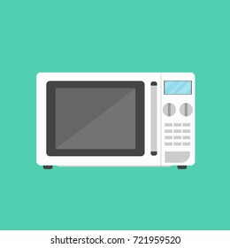 Microwave icon in flat style. Vector illustration.