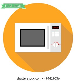 Microwave icon, microwave isolated. Flat design, vector.