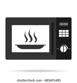 Microwave oven, microwave oven icon. Flat design, vector illustration, vector.