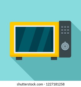 Microwave oven icon. Flat illustration of microwave oven vector icon for web design