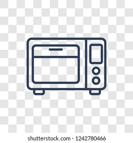 Microwave oven icon. Trendy linear Microwave oven logo concept on transparent background from kitchen collection