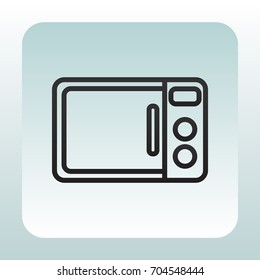 Microwave oven icon Vector.
