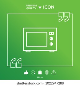 Microwave Oven linear icon