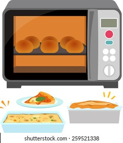 microwave oven and meal