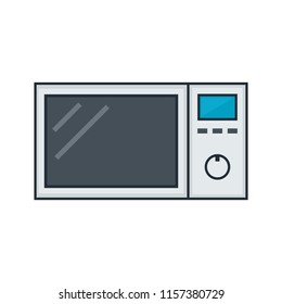 Microwave oven simple icon. Clipart image isolated on white background