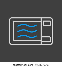 Microwave vector icon. Electric kitchen appliance. Graph symbol for cooking web site design, logo, app, UI