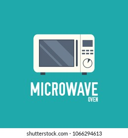microwave vector outline illustration symbol object. Thin line icon style concept design