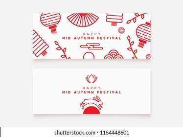 Mid Autumn Festival banner. National holiday in China.
