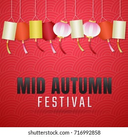 Mid Autumn Festival Vector background for banner,  poster, flyer