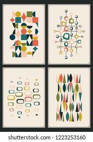 Mid Century Moder Decorative Prints Set