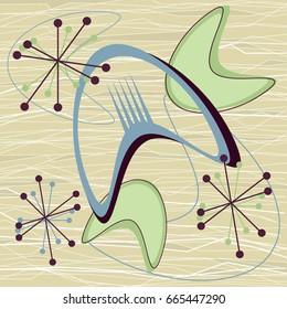 mid century modern 1950s style vintage retro atomic background pattern