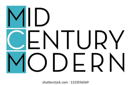 Mid Century Modern Typopgraphy, MCM Logo Type, Mid Century Lettering, Icon and Symbol for Vintage Mod Enthusiasts