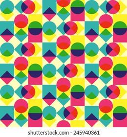 Mid century pop geometry
