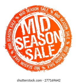 Mid season sale rubber stamp