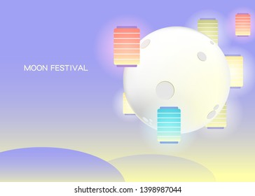 Mid-Autumn Festival reunion template, available for Web pages, festivals, banners, prints-vector diagrams