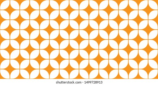 Mid-Century Modern Wallpaper Pattern, Seamless 60s Background, 1960s Repeating Backdrop, Vector Tangerine Wall Paper, Groovy Geometric Pattern, Trippy Wall Art, Mod Decor, Decorative Orange Shapes