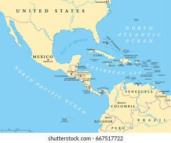 Map Of America And Central America.Central America Map Images Stock Photos Vectors Shutterstock