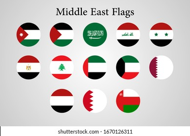middle east Arab country flags