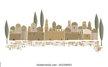 Middle East Town,Old City, Abstract  architecture, Historical place
