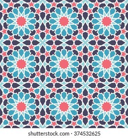 Middle Eastern style pattern. Editable vector seamless pattern repeat.