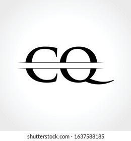 Middle Line CQ Letter Logo With Creative Modern Business Typography Vector Template. Creative Abstract Letter CQ Logo Design
