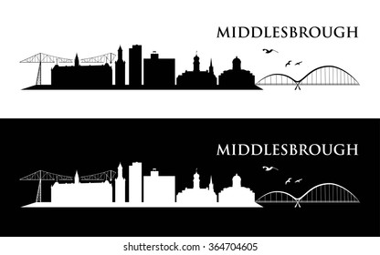 Middlesbrough skyline - vector illustration