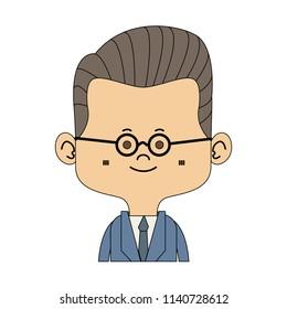 Midget businessman cartoon