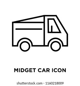 Midget car icon vector isolated on white background, Midget car transparent sign , linear symbol and stroke design elements in outline style