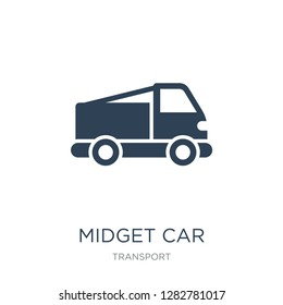 midget car icon vector on white background, midget car trendy filled icons from Transport collection, midget car vector illustration