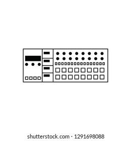 MIDI controller flat vector pictogram