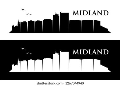 Midland skyline - Texas, United States of America, USA - vector illustration