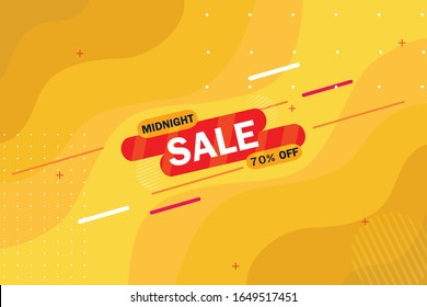 Midnight Sale Offer background template.