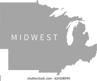 Midwest Region US Map