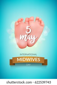 Midwives day 5 may. Vector illustration for International Midwives day greeting cards, Midwives day banners or print.