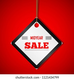 midyear sale label red