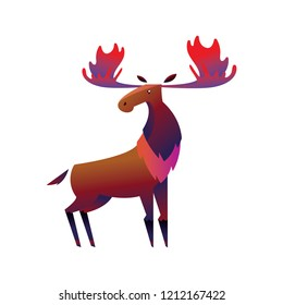 THE MIGHTY MOOSE COLORFUL CHARACTER DESIGN