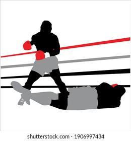 Mike Tyson illustration. Vector silhouette. boxing.  Serbia - Belgrade 01.02.2021